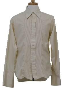 1970's Mens Tuxedo Shirt