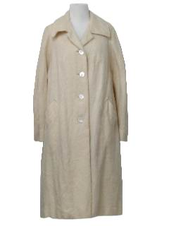 1960's Womens Wool Duster or Wedge Coat Jacket