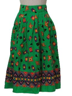 1980's Womens Totally 80s Maxi Skirt