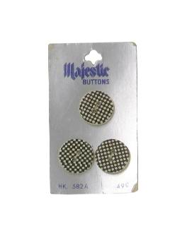 1960's Unisex Sewing Accessories - Mod Buttons