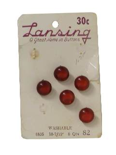 1940's Unisex Sewing Accessories - Buttons