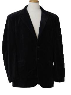 1980's Mens Velvet Blazer or Sport Coat Jacket