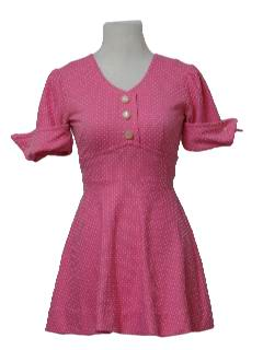 1960's Womens/Girls Mini Knit Dress