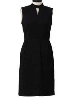 1960's Womens Knit Little Black Dress