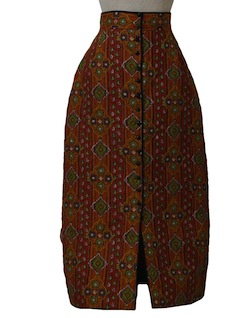 1970's Womens Maxi Hippie Skirt