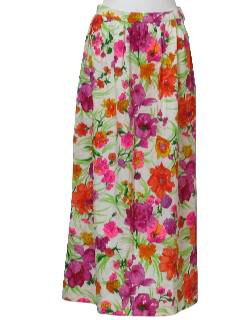1960's Womens Maxi Hippie Skirt
