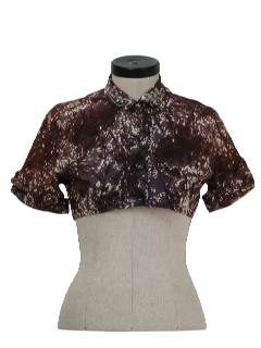 1950's Womens Cocktail Bolero Shirt