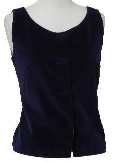 1960's Womens Velvet Shirt