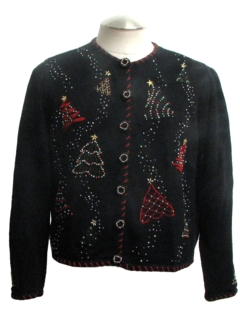 1980's Womens Beaded Ugly Christmas Sweater