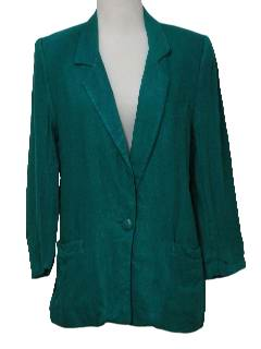 1980's Womens Totally 80s Linen Boyfriend Style Blazer Jacket
