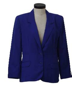 1980's Womens Totally 80s Boyfriend Style Blazer Jacket