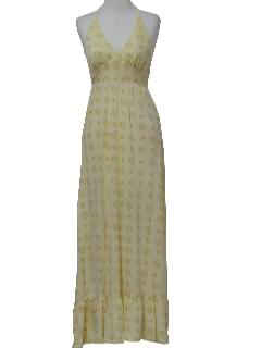 1970's Womens Maxi Hippie Sundress