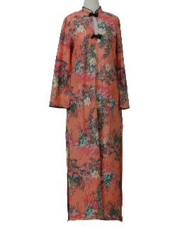 1970's Womens Asian Style Lounge Dress