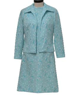 1970's Womens Mod Dress Set