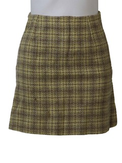 1970's Womens Wool Mini Skirt