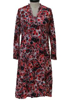 1970's Womens Paisley Dress