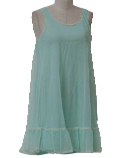 1960's Womens Lingerie Nightgown