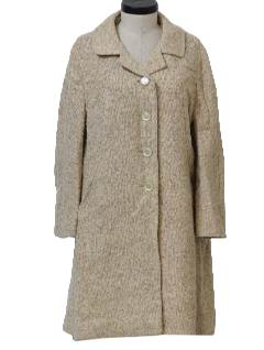 1950's Womens Mod Wool Duster or Wedge Style Coat Jacket