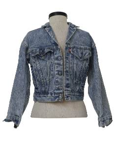 1980's Unisex Totally 80s Acid Washed Denim Jacket