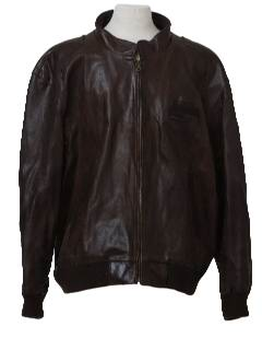 1980's Mens Leather Totally 80s Members Only Jacket