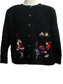 1980's Womens Ugly Christmas Sweater Style Sweatshirt