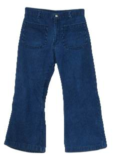 1970's Mens Denim Bellbottom Jeans pants.