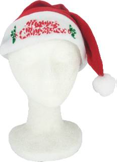 1990's Unisex Accessories - Hat / Merry Christmas Light up Santa Hat