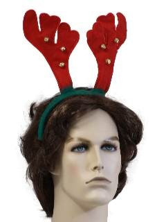 1990's Unisex Accessories - Jingle Bell Antler Headband style Hat to wear with your Ugly Christmas Sweater