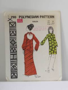 1970's Womens Hawaiian Pattern