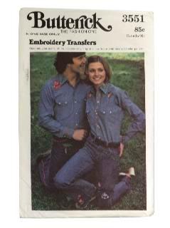 1970's Unisex Transfer Pattern