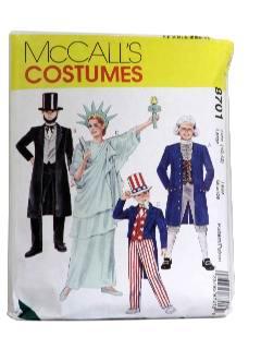 1990's Unisex Costume Pattern