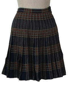 1960's Womens Plaid Pleated Wool Skirt