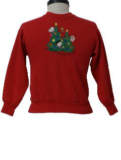 1980's Womens/Childs Ugly Christmas Sweatshirt