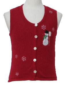 1980's Womens/Childs Ugly Christmas Sweater Vest