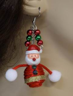 1990's Womens Accessories - Christmas Santa Jewelry Earrings