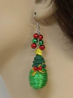 1990's Womens Accessories - Christmas Tree Jewelry Earrings