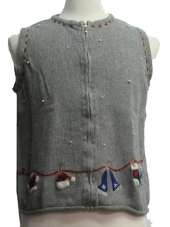 1980's Womens Ugly Christmas Vest