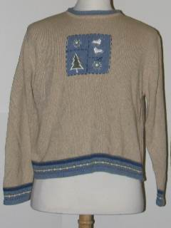 1980's Unisex Discount Tired and Ugly Christmas Sweater