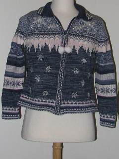 1980's Womens Discount Tired and Ugly Christmas Sweater