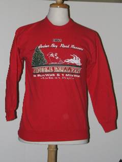 1980's Womens Discount Tired and Ugly Christmas Sweatshirt