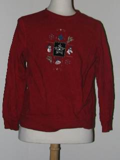 1980's Unisex Discount Tired and Ugly Christmas Sweatshirt