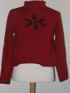 1980's Womens Tired and Ugly Discount Flawed Mod Ugly Christmas Sweater