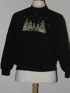 1980's Unisex Tired and Ugly Discount Flawed Ugly Christmas Sweatshirt