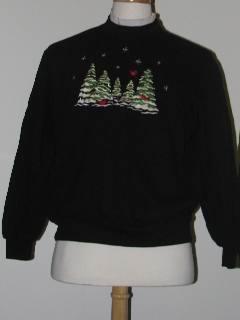 1980's Unisex Tired and Ugly Discount Flawed Ugly Christmas Sweatshirt