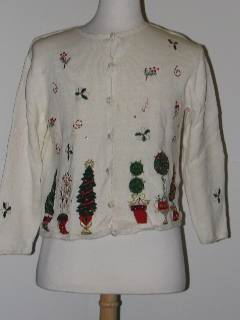 1980's Womens Tired and Ugly Discount Flawed Ugly Christmas Sweater