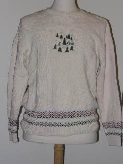 1980's Unisex Tired and Ugly Discount Flawed Unisex Ugly Christmas Sweater