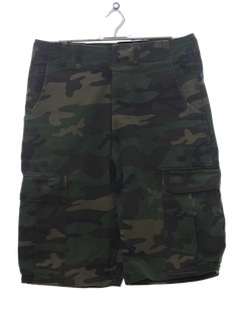 1970's Mens Grunge Camouflage Military Shorts