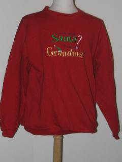 1980's Unisex Tired and Ugly Discount Flawed Unisex Ugly Christmas Sweatshirt