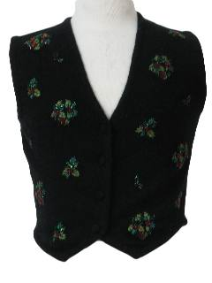 1980's Womens/Gilrs Ugly Christmas Sweater Vest