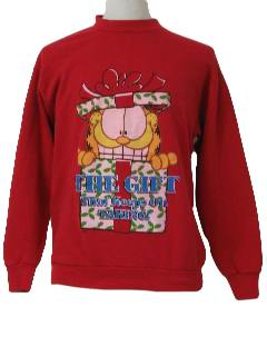 1980's Unisex Garfield Ugly Christmas Sweatshirt